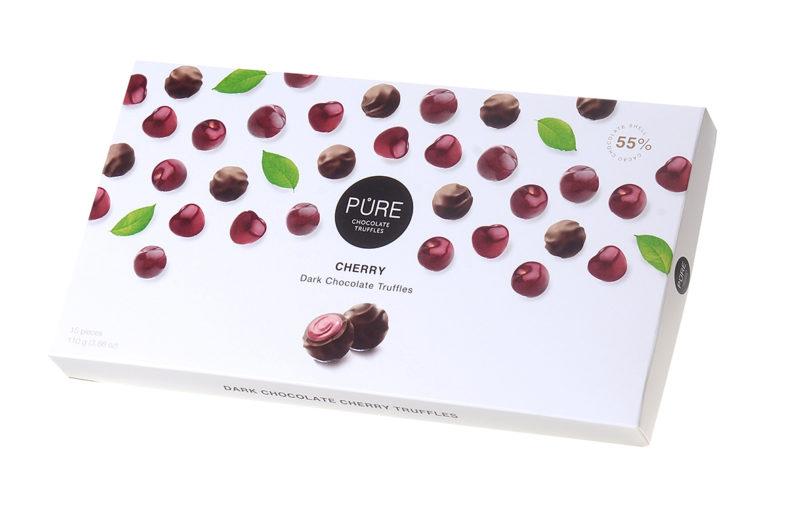 CHERRY DARK CHOCOLATE TRUFFLES